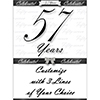 57 YEARS CLASSY BLACK DOOR BANNER PARTY SUPPLIES