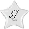 57 YEARS CLASSY BLACK STAR BALLOON PARTY SUPPLIES