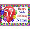 57TH BALLOON BLAST CUSTOMIZED PLACEMAT PARTY SUPPLIES
