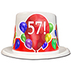 57TH BIRTHDAY BALLOON BLAST TOP HAT PARTY SUPPLIES