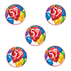 57TH BIRTHDAY BALLOON BLAST DECO FETTI PARTY SUPPLIES