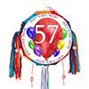 57TH BIRTHDAY BALLOON BLAST PINATA PARTY SUPPLIES