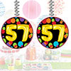 57TH BIRTHDAY BALLOON DANGLER PARTY SUPPLIES