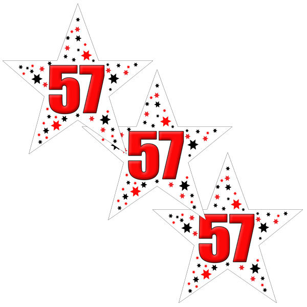 57TH BIRTHDAY STAR DECO FETTI PARTY SUPPLIES