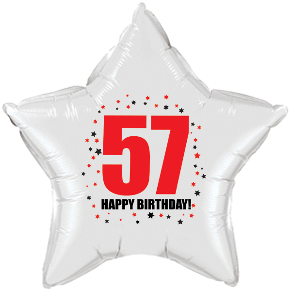 Click for larger picture of 57TH BIRTHDAY STAR BALLOON PARTY SUPPLIES