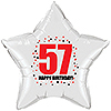 57TH BIRTHDAY STAR BALLOON PARTY SUPPLIES