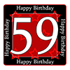 59TH BIRTHDAY COASTER PARTY SUPPLIES