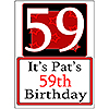 PERSONALIZED 59 YEAR OLD YARD SIGN PARTY SUPPLIES