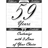 59 YEARS CLASSY BLACK DOOR BANNER PARTY SUPPLIES