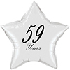 59 YEARS CLASSY BLACK STAR BALLOON PARTY SUPPLIES