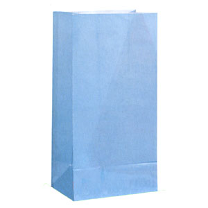Click for larger picture of LT BLUE PAPER PARTY BAGS PARTY SUPPLIES