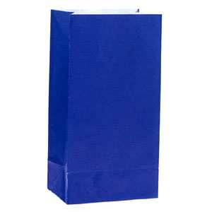 Click for larger picture of ROYAL BLUE PAPER PARTY BAGS PARTY SUPPLIES