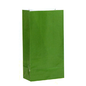 Click for larger picture of GREEN PAPER PARTY BAGS PARTY SUPPLIES