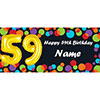 BALLOON 59TH BIRTHDAY CUSTOMIZED BANNER PARTY SUPPLIES