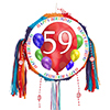 59TH BIRTHDAY BALLOON BLAST PINATA PARTY SUPPLIES