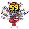 59TH BIRTHDAY BALLOON CENTERPIECE PARTY SUPPLIES