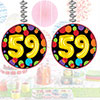 59TH BIRTHDAY BALLOON DANGLER 3/PKG PARTY SUPPLIES