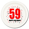 59TH BIRTHDAY DESSERT PLATE 8-PKG PARTY SUPPLIES