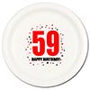 59TH BIRTHDAY DINNER PLATE 8-PKG PARTY SUPPLIES