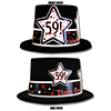 59TH BIRTHDAY TIME TO CELEBRATE TOP HAT PARTY SUPPLIES