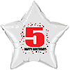 5TH BIRTHDAY STAR BALLOON PARTY SUPPLIES