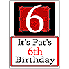 PERSONALIZED 6 YEAR OLD YARD SIGN PARTY SUPPLIES