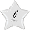 6 YEARS CLASSY BLACK STAR BALLOON PARTY SUPPLIES