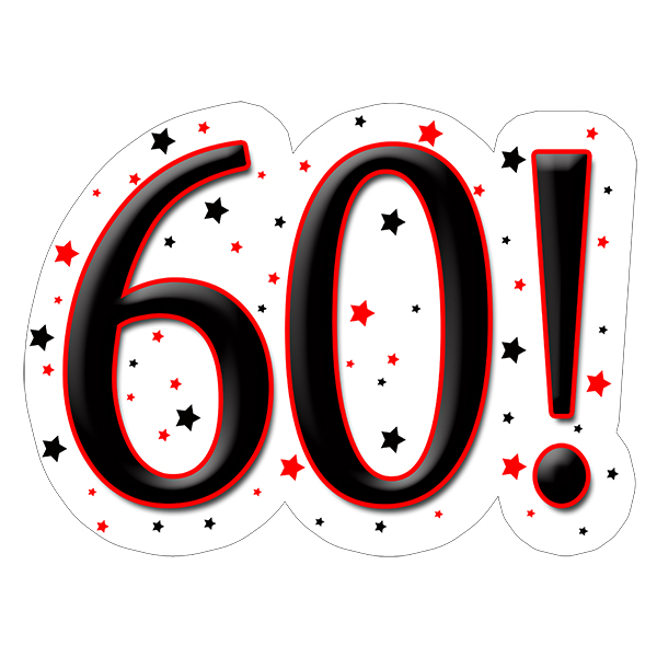 60! DECORATION (15X22 IN.) PARTY SUPPLIES