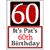 PERSONALIZED 60 YEAR OLD YARD SIGN PARTY SUPPLIES