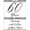 60 YEARS CLASSY DIAMOND DOOR BANNER PARTY SUPPLIES