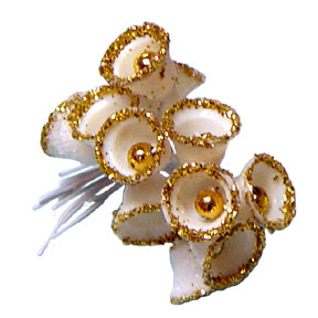 Click for larger picture of GOLD SUGARED BELLS (12/CT.) PARTY SUPPLIES