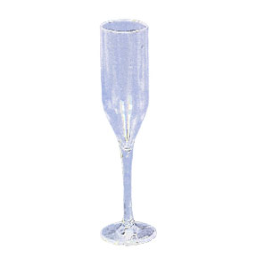 Click for larger picture of CLEAR CHAMPAGNE FAVOR FLUTE FAVOR PARTY SUPPLIES