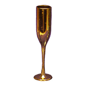 Click for larger picture of GOLD CHAMPAGNE FLUTE FAVOR PARTY SUPPLIES