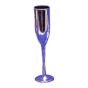 Click for larger picture of SILVER CHAMPAGNE FAVOR FLUTE FAVOR PARTY SUPPLIES