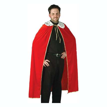 QUEEN/KING ROBE (ADULT SIZE) RED PARTY SUPPLIES