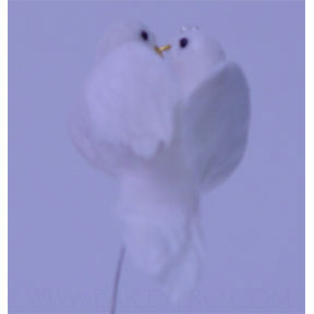 Click for larger picture of FEATHER DOVES WITH RINGS - 3 INCHES PARTY SUPPLIES