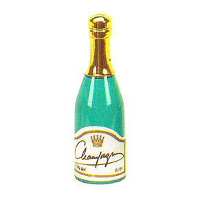 Click for larger picture of CHAMPAGNE BOTTLE (3 INCHES) PARTY SUPPLIES
