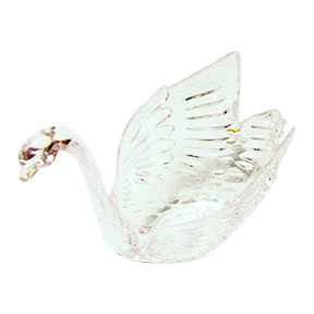 Click for larger picture of CLEAR SWAN WEDDING FAVOR- EACH PARTY SUPPLIES
