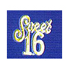 GOLD SWEET 16 PLAQUES (24/CT) PARTY SUPPLIES