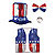 UNCLE SAM SET PARTY SUPPLIES