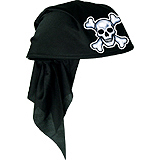 Click for larger picture of FELT PIRATE SCARF HAT-BLACK PARTY SUPPLIES