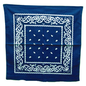 BLUE BANDANA 22IN.X22IN. (12 CT) PARTY SUPPLIES