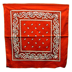 RED BANDANA (12 CT) PARTY SUPPLIES