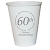 60TH ANNIVERSARY CUP  8/PKG PARTY SUPPLIES