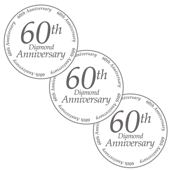 60TH ANNIVERSARY DECO FETTI PARTY SUPPLIES