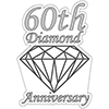 60TH ANNIVERSARY DIAMOND DECORATION PARTY SUPPLIES