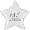 60TH ANNIVERSARY MYLAR BALLOON PARTY SUPPLIES