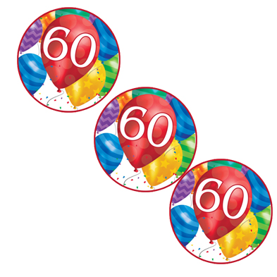 60TH BALLOON BLAST DECO FETTI PARTY SUPPLIES