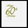 60TH CLASSY BIRTHDAY LUNCHEON NAPKIN PARTY SUPPLIES