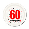 60TH BIRTHDAY DESSERT PLATE 8-PKG PARTY SUPPLIES